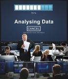 Analysing Data Loading Progress Bar Concept Stock Image