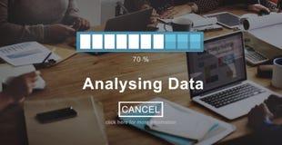 Analysing Data Loading Progress Bar Concept Stock Photography