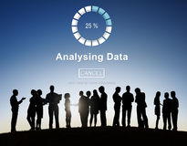Analysing Data Loading Progress Bar Concept Stock Images
