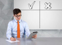 Analysis advantages and disadvantages Stock Images