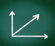 Analysis Arrows on Black Chalkboard Stock Photos