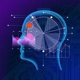 Analysis artificial intelligence Web Banner stock illustration