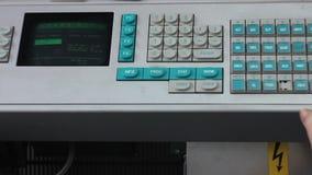 Analysis of blood: blood test machine stock footage