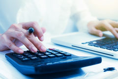 Analysis business accounting,business finance concept and busine Stock Images