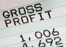 Analysis of business profit and loss statment Stock Photo
