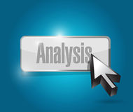 Analysis button illustration design Royalty Free Stock Photography