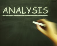 Analysis Chalk Shows Evaluating And Interpreting Information. Analysis Chalk Showing Evaluating And Interpreting Information Royalty Free Stock Photography