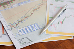 Analysis charts and graphs. Of sales - successful corporate business Stock Photos