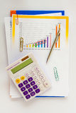 Analysis charts and graphs of sales Royalty Free Stock Image