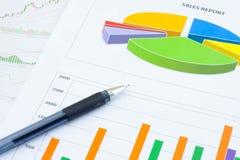 Analysis charts Royalty Free Stock Photos