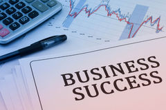 Analysis charts and graphs. Of sales -successful corporate business Stock Photos