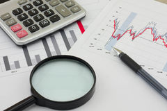 Analysis charts Stock Images