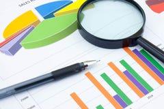 Analysis charts Royalty Free Stock Photo