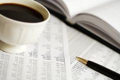 analysis coffee financial 库存图片