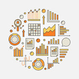 Analysis colorful illustration Stock Image