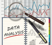 Analysis concept. Financial graphs and charts analysis as concept Royalty Free Stock Photos
