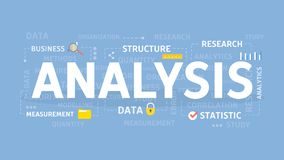 Analysis concept illustration. Idea of statistics, data and research Royalty Free Stock Photos