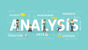 Analysis concept illustration. Idea of statistics, data and research Royalty Free Stock Photography