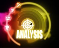Analysis concept plan graphic. 2018 Royalty Free Stock Images