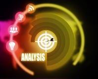 Analysis concept plan graphic. 2018 Stock Photo