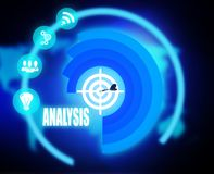 Analysis concept plan graphic. 2018 Royalty Free Stock Photography