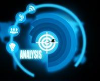 Analysis concept plan graphic. 2018 Royalty Free Stock Photos