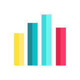 Analysis Data Charts Isolated on White. Diagram charts in flat design. Infographics and charts, diagram marketing, report data, statistic, finance presentation Royalty Free Stock Photos