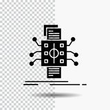 Analysis, data, datum, processing, reporting Glyph Icon on Transparent Background. Black Icon. Vector EPS10 Abstract Template background royalty free illustration