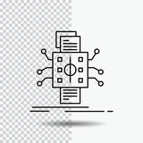 Analysis, data, datum, processing, reporting Line Icon on Transparent Background. Black Icon Vector Illustration. Vector EPS10 Abstract Template background royalty free illustration