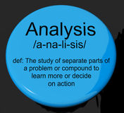 Analysis Definition Button Showing Probing Study Or Examining Royalty Free Stock Image