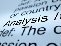 Analysis Definition Closeup Showing Probing Study Or Examining Stock Photo