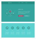Analysis  design template for websites and apps Stock Images