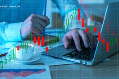 Analysis and finance concept Stock Image