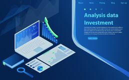 Analysis Finance Graph Financial Business Chart. Data analysis concept, information searching, search engine optimization. Analysis Finance Graph Financial Royalty Free Stock Photography