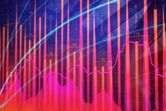 Analysis, finance and stock background. Abstract forex chart. 3D Rendering Stock Image