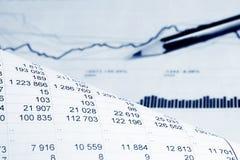 analysis financial arkivbild