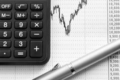 Analysis of the financial market (2). Royalty Free Stock Photos