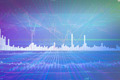Analysis  graph chart of stock market trading. Screen Stock Images