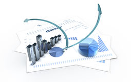 Analysis. Graphics  3d financial analysis Stock Images