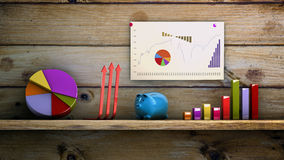 Analysis. Graphics 3d financial analysis concept Royalty Free Stock Images