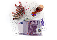 Analysis. Graphics isolated 3d financial analysis Stock Photo