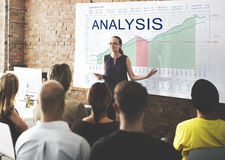 Analysis Graphs Business Marketing Goals concept. People Discuss Analysis Graphs Business Marketing Goals royalty free stock image