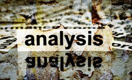 Analysis grunge concept Royalty Free Stock Photos