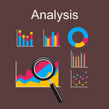 Analysis illustration. Flat design illustration concepts for business, management, career, business statistics, brainstorming, monitoring trend Stock Photography