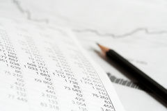 analysis index price стоковое фото