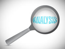 Analysis magnify text illustration design Stock Photography