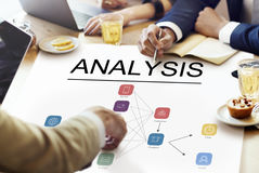 Analysis Model Flow Chart Icon. Business Team Analysis Model Flow Chart Icon Royalty Free Stock Photo
