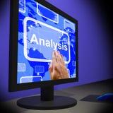 Analysis On Monitor Showing Running Exams. Or Testing Royalty Free Stock Image