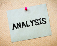Analysis note Royalty Free Stock Photos