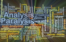 Analysis paralysis background concept glowing Stock Images